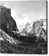 Yosemite Valley Not Clearing Winter Storm Acrylic Print