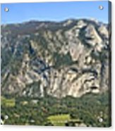 Yosemite Valley Panorama From Union And Glacier Points Acrylic Print