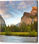 Yosemite Valley View Acrylic Print by Buck Forester