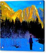 Yosemite Valley Winter Walk Acrylic Print