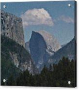 Yosemite View Of El Capitan And Half Dome Acrylic Print