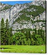 Yosemite West Valley Meadow Panorama #2 Acrylic Print