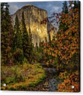 Yosemite's El Capitan In The Fall Acrylic Print