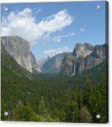 Yosemite's Inspiration Point Acrylic Print