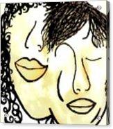 You And Me Sepia Tones Acrylic Print