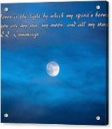 You Are My Moon Acrylic Print