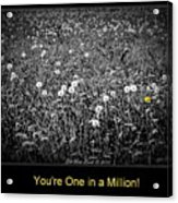 You Are One In A Million Acrylic Print