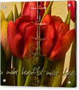 You Make Beautiful Music Together Acrylic Print by Dania Reichmuth