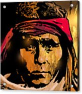 Young Apache Brave Acrylic Print
