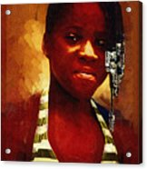 Young Black Female Teen 1 Acrylic Print