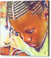 Young Black Female Teen 2 Acrylic Print