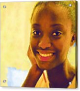 Young Black Female Teen 3 Acrylic Print