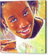 Young Black Female Teen 5 Acrylic Print