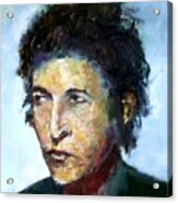 Young Bob Dylan  Acrylic Print