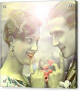 Young Couple Flirting Acrylic Print