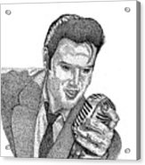 Young Elvis Acrylic Print