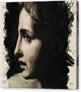 Young Faces From The Past Series By Adam Asar, No 117 Acrylic Print