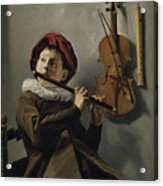 Young Flute Player , Judith Leyster, 1630 Acrylic Print