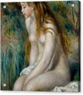 Young Girl Bathing, 1892 Acrylic Print