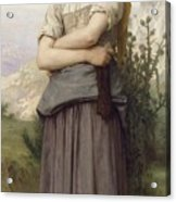 Young Girl, By William-adolphe Bouguereau Acrylic Print