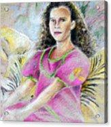 Young Girl From Tahiti Acrylic Print