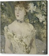 Young Girl In A Ball Gown By Berthe Morisot Acrylic Print