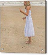 Young Girl On Beach Acrylic Print