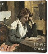 Young Girl Reading Acrylic Print