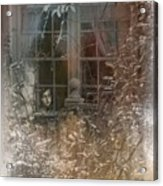 Young Girl Sitting At Window Acrylic Print