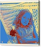 Young Girl With Blue Eyes Acrylic Print