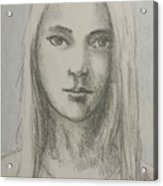 Young Girl With Long Hair Acrylic Print