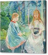 Young Girls At The Window Acrylic Print by Berthe Morisot