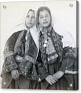 Young Girls Of Bethlehem Year 1896 Acrylic Print