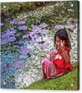 Young Khmer Girl - Cambodia Acrylic Print