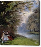 Young Ladies By A River Acrylic Print