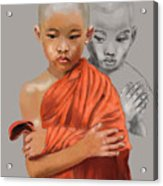 Young Lama Acrylic Print
