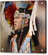 Pow Wow Young Man Acrylic Print