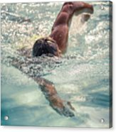 Young Man Swimming Acrylic Print