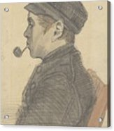 Young Man With A Pipe Nuenen, March 1884 Vincent Van Gogh 1853 - 1890 Acrylic Print