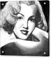 Young Marilyn Acrylic Print