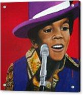Young Michael Jackson Singing Acrylic Print