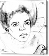 Young Micheal Jackson  Acrylic Print