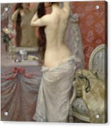 Young Nude Woman Styling In An Interior Acrylic Print