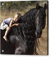 Young Rider Acrylic Print