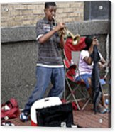 Young Trumpet Player Acrylic Print