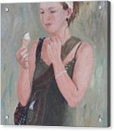 Young Woman And Ice-cream Acrylic Print