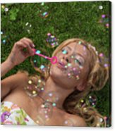 Young Woman Having Fun In Summer Acrylic Print