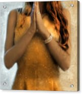 Young Woman Praying Acrylic Print