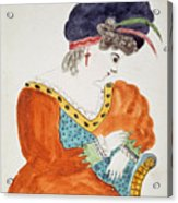 Young Woman Wearing A Turban  Acrylic Print