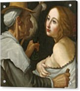 Young Woman With A Fortune Teller Acrylic Print